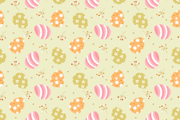 Cute Easter And Tiny Flower Seamless Graphic By Thanaporn Pinp