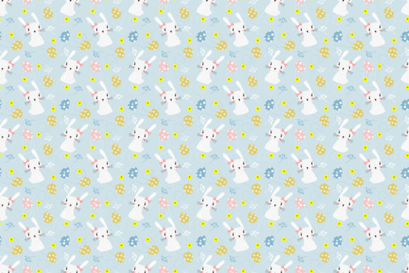 Download Free Cute White Bunny Seamless Pattern Graphic By Thanaporn Pinp for Cricut Explore, Silhouette and other cutting machines.