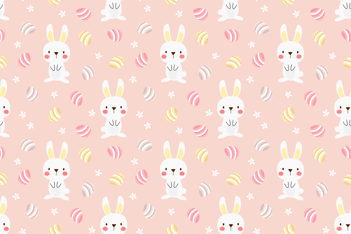 Download Free Cute White Bunny And Easter Graphic By Thanaporn Pinp Creative SVG Cut Files