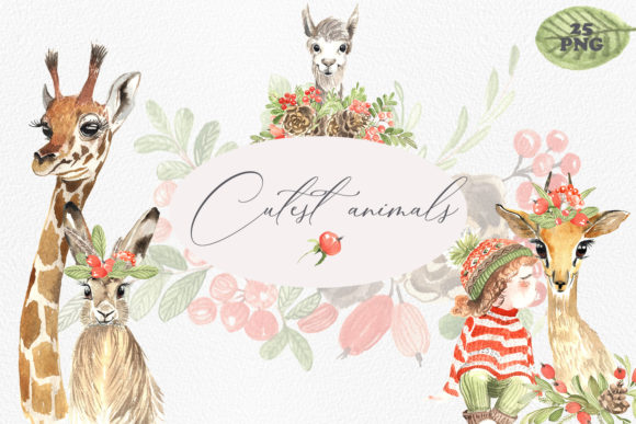Print on Demand: Cutest Animals Graphic Illustrations By laffresco04