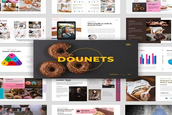 Print on Demand: Dounets Graphic Presentation Templates By icutletterstudio