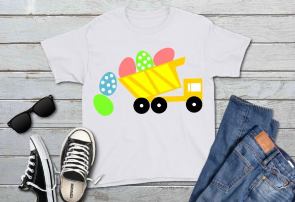 Download Free Dump Truck Easter Eggs Graphic By Printsofpop Creative Fabrica for Cricut Explore, Silhouette and other cutting machines.