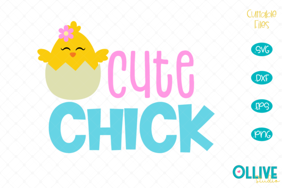 Download Free Easter Day Cute Chick Graphic By Ollivestudio Creative Fabrica for Cricut Explore, Silhouette and other cutting machines.