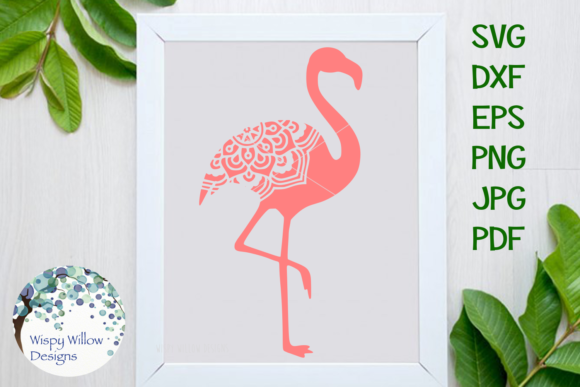 Download Free Flamingo Mandala Graphic By Wispywillowdesigns Creative Fabrica for Cricut Explore, Silhouette and other cutting machines.