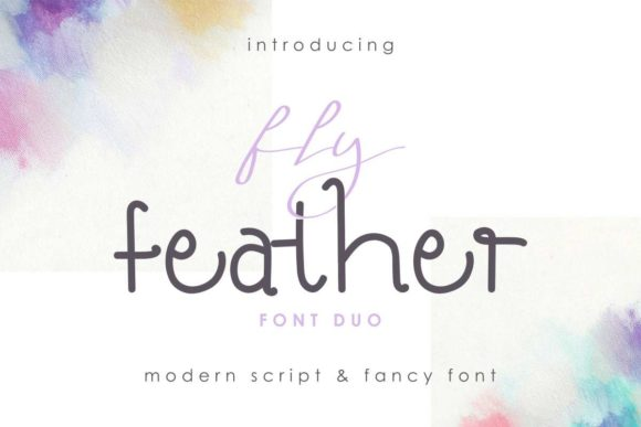 Print on Demand: Fly Feather Duo Script & Handwritten Font By EdricStudio