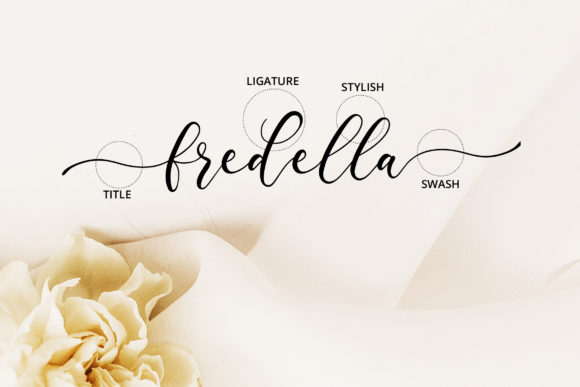 Print on Demand: Fredella Script & Handwritten Font By practype - Image 2