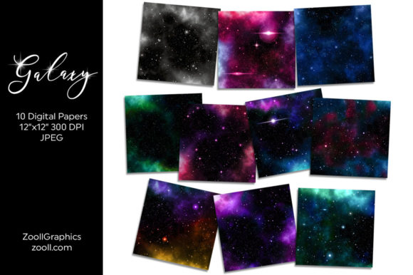 Galaxy Digital Papers Graphic Textures By ZoollGraphics - Image 2