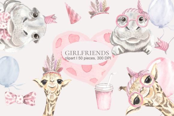 Print on Demand: Girlfriends Graphic Illustrations By laffresco04 - Image 1