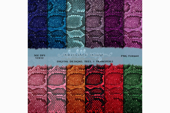 Glitter Snakeskin Digital Paper Pack Graphic Textures By rebecca19 - Image 1