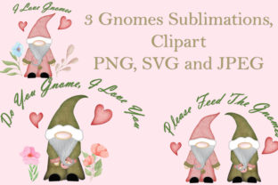 Download Free Gnomes Sublimation Graphic By The Paper Princess Creative Fabrica for Cricut Explore, Silhouette and other cutting machines.