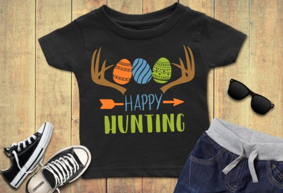 Print on Demand: Happy Hunting Easter Eggs Graphic Crafts By PrintsOfPop