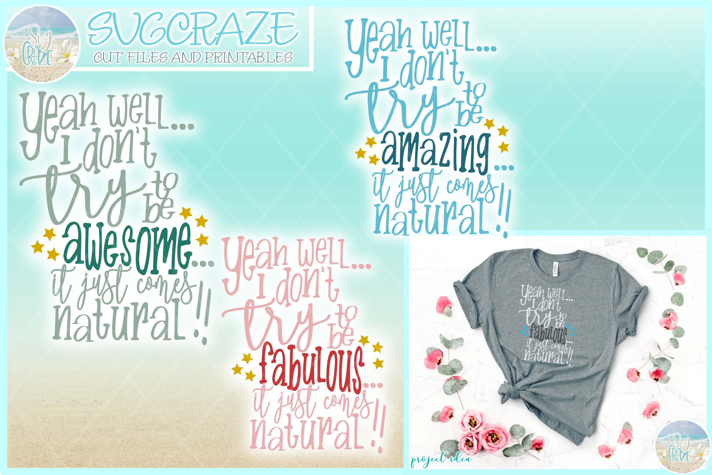 Download Free I Don T Have To Try To Be Awesome Amazing Graphic By Svgcraze for Cricut Explore, Silhouette and other cutting machines.