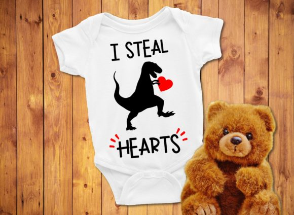 I Steal Hearts Dinosaur Graphic