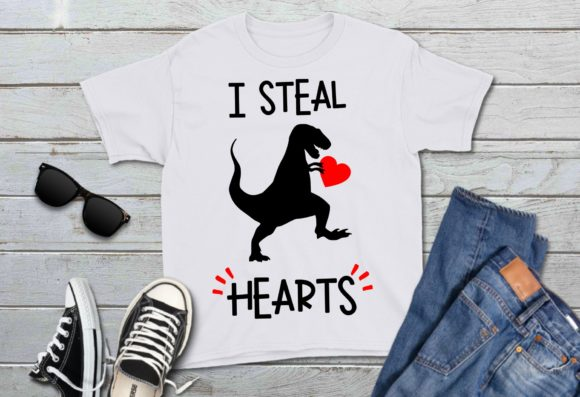 I Steal Hearts Dinosaur Graphic Download