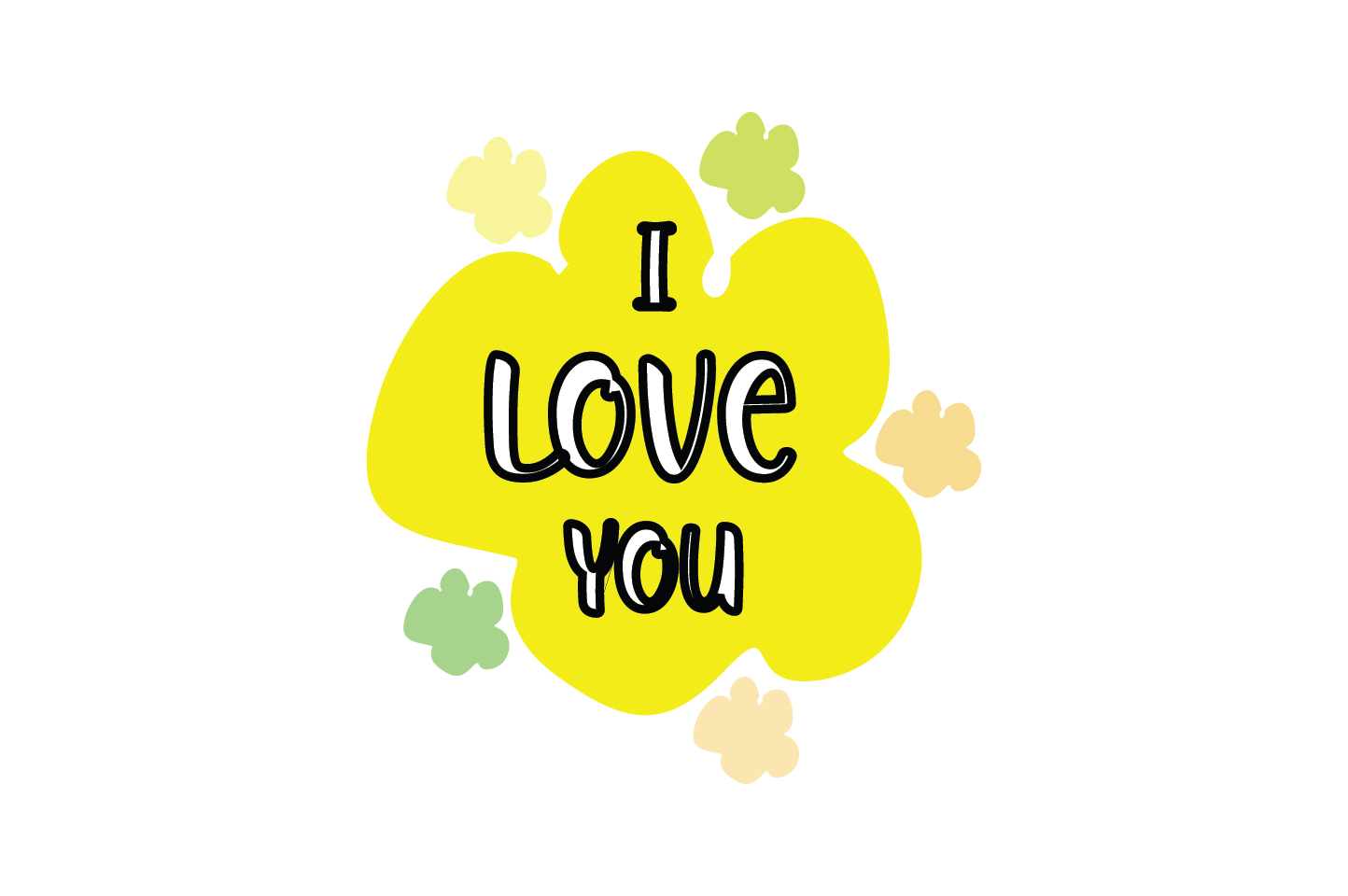 Download Free I Love You Quote Svg Cut Graphic By Yuhana Purwanti Creative for Cricut Explore, Silhouette and other cutting machines.