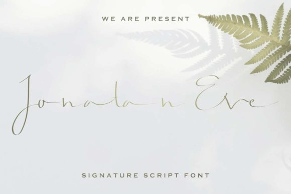 Print on Demand: Jonatan Eve Script & Handwritten Font By EdricStudio