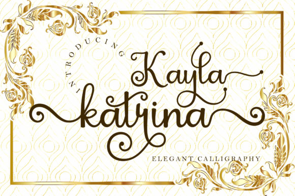 Print on Demand: Kayla Katrina Script & Handwritten Font By airotype