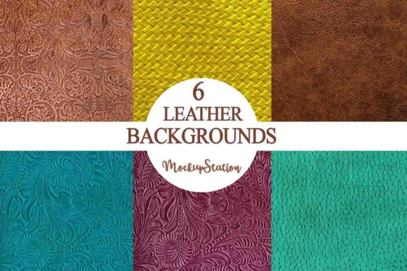 Print on Demand: Leather Background Texture Bundle Graphic Backgrounds By Mockup Station - Image 1