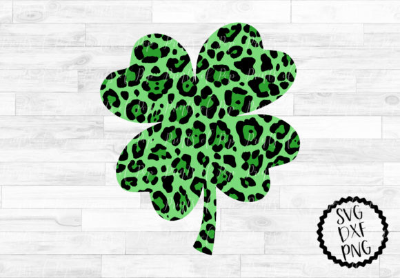 Download Free Leopard Print Shamrock Graphic By Printsofpop Creative Fabrica for Cricut Explore, Silhouette and other cutting machines.
