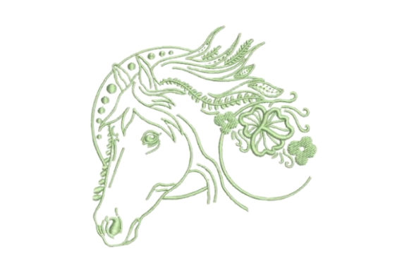Linework Horse Horses Embroidery Design By Embroidery Designs - Image 1