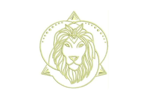 Linework Lion Wild Animals Embroidery Design By Embroidery Designs