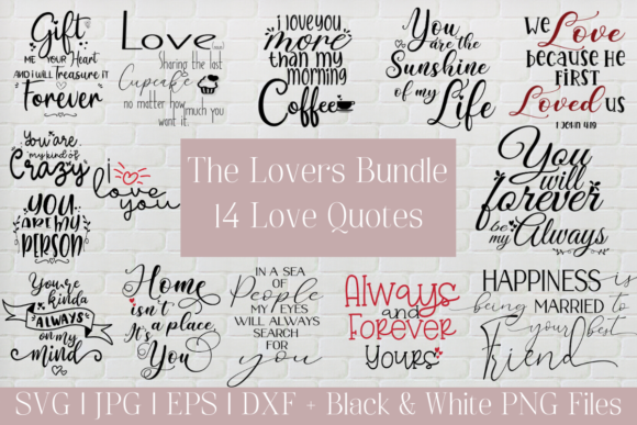 Download Free Lovers Bundle Love Quotes Love Notes Graphic By The Little for Cricut Explore, Silhouette and other cutting machines.