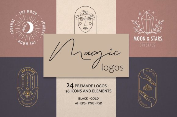 Magic Logos Graphic Logos By Alisovna