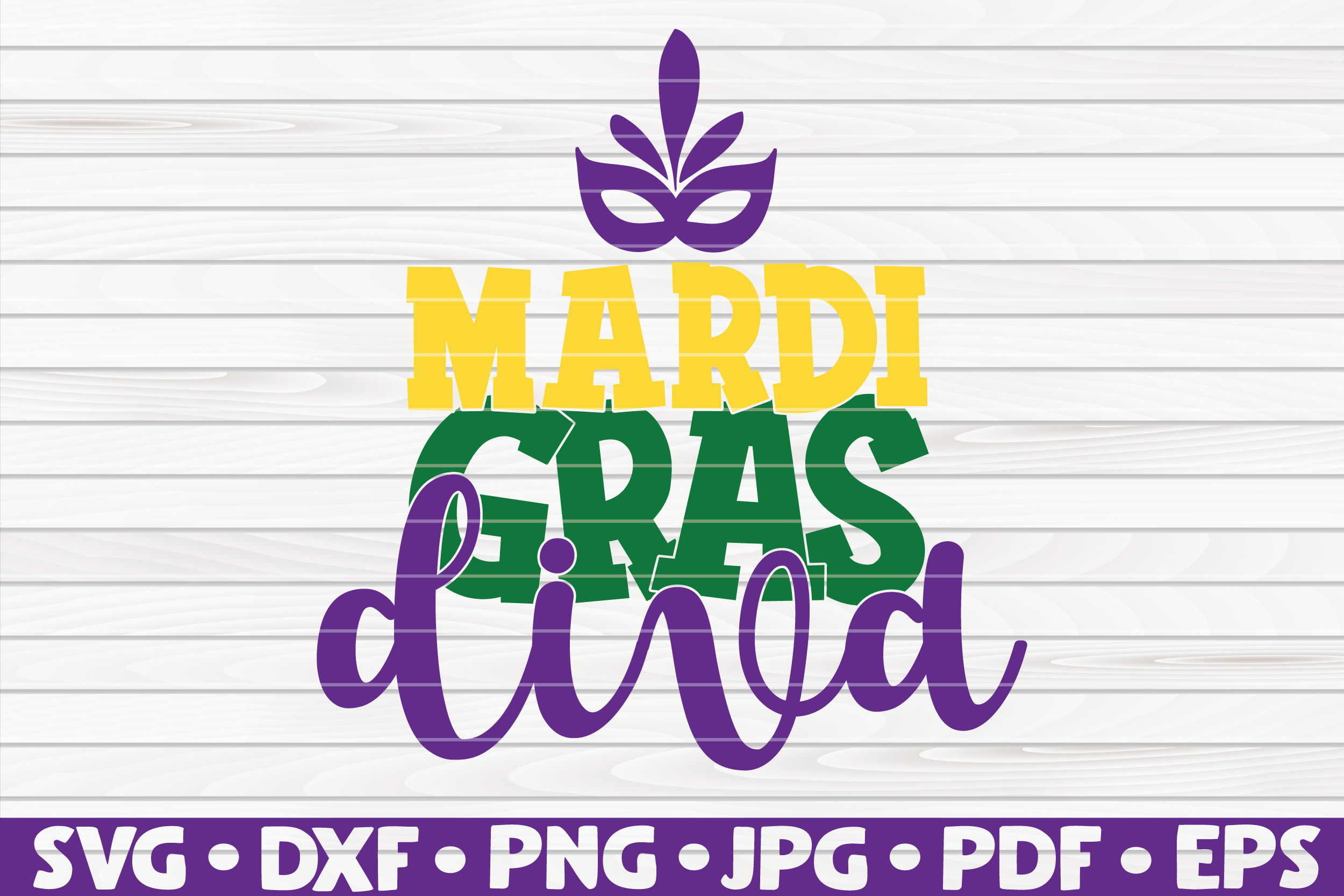 Download Free Mardi Gras Diva Graphic By Mihaibadea95 Creative Fabrica for Cricut Explore, Silhouette and other cutting machines.