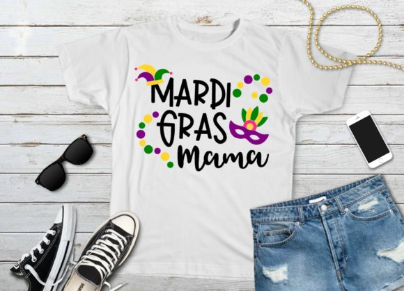 Download Free Mardi Gras Mama Graphic By Printsofpop Creative Fabrica for Cricut Explore, Silhouette and other cutting machines.