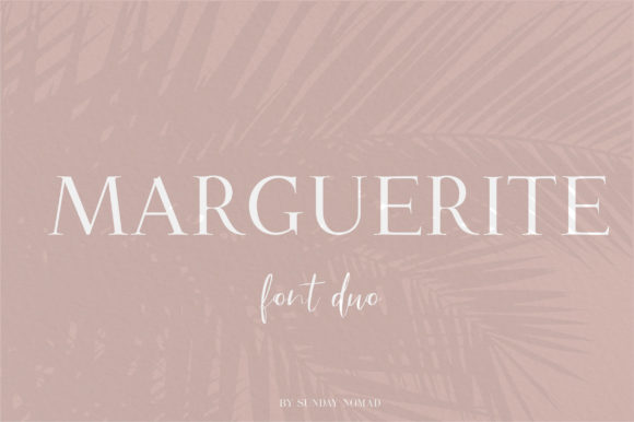 Print on Demand: Marguerite Duo Serif Font By sunday nomad