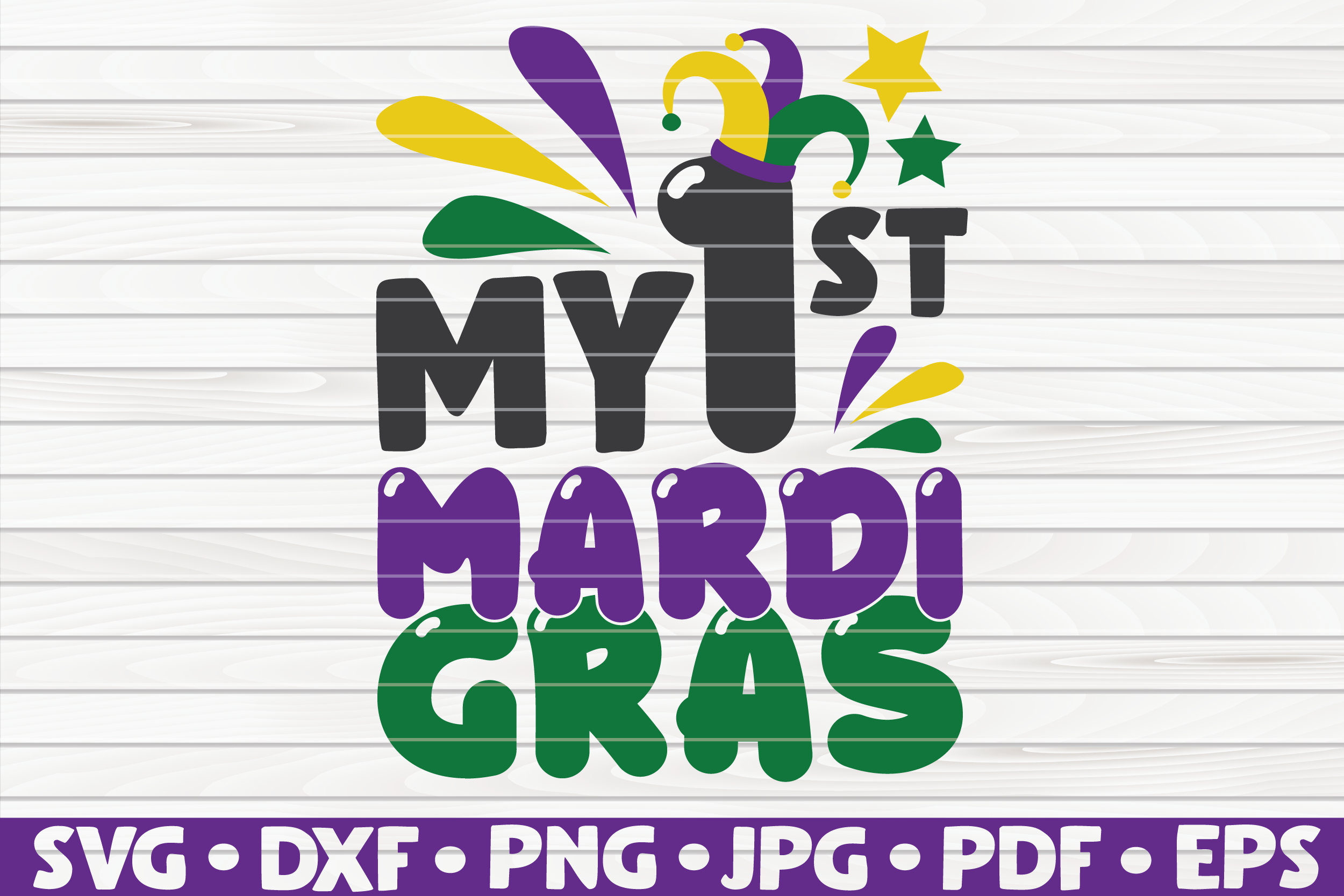 Download Free My First Mardi Gras Graphic By Mihaibadea95 Creative Fabrica SVG Cut Files