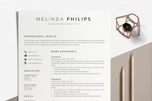 Professional CV Graphic Print Templates By lukstudiodesign