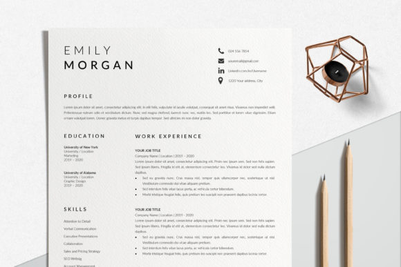 Professional Resume Design Graphic Print Templates By lukstudiodesign