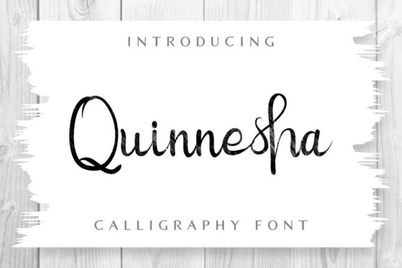 Download Free Quinnesha Font By Edricstudio Creative Fabrica for Cricut Explore, Silhouette and other cutting machines.