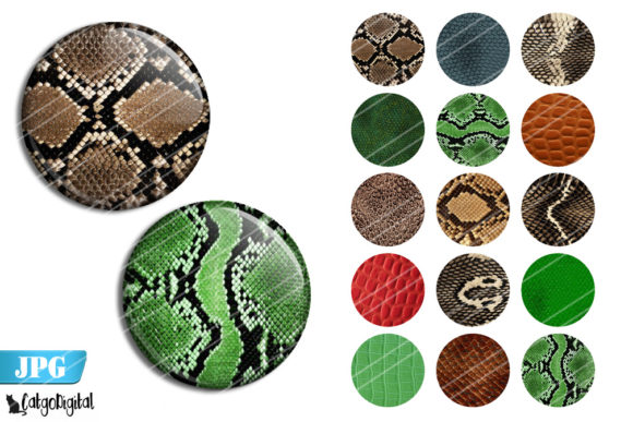 Print on Demand: Reptile Skin Pattern Bottle Cap Images Graphic Crafts By CatgoDigital