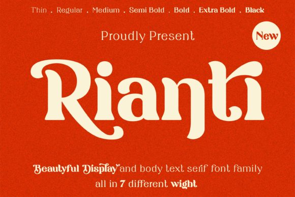 Print on Demand: Rianti Serif Font By Lone Army