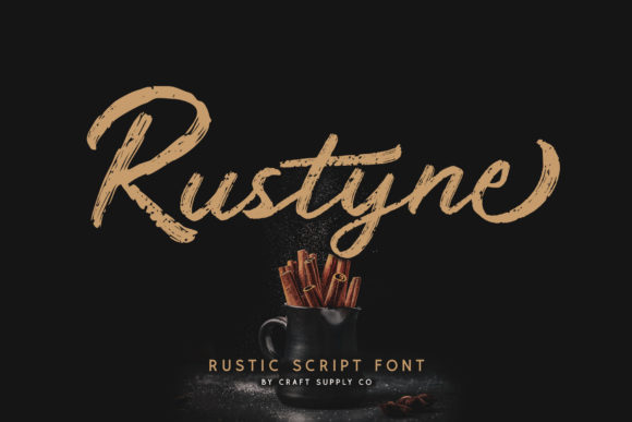Print on Demand: Rustyne Script & Handwritten Font By craftsupplyco