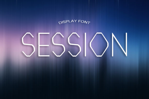 Print on Demand: Session Display Font By dmytroyarish