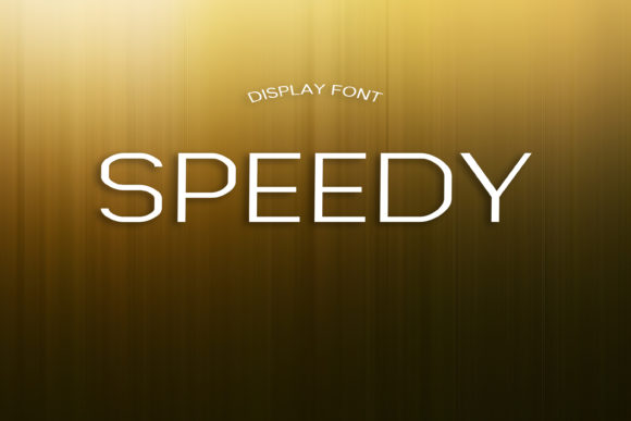 Print on Demand: Speedy Display Font By dmytroyarish