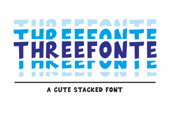 Print on Demand: Threefonte Display Font By Girinesia