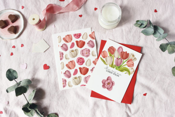 Print on Demand: Tulip Flowers Patterns Borders Graphic Illustrations By Architekt_AT - Image 2
