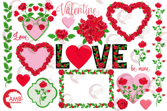 Valentine Roses Clipart Graphic Illustrations By AMBillustrations - Image 4