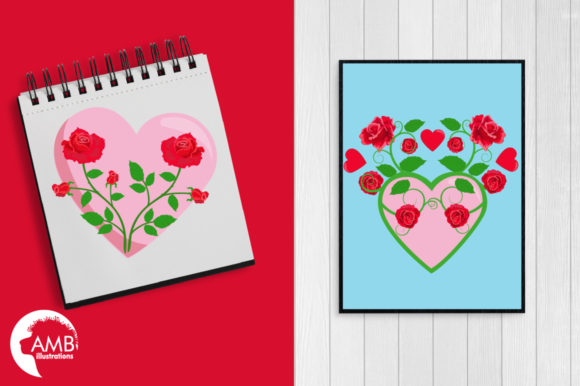 Valentine Roses Clipart Graphic Illustrations By AMBillustrations - Image 5