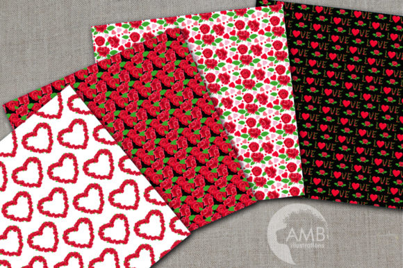 Valentine Roses Patterns Graphic Patterns By AMBillustrations - Image 2