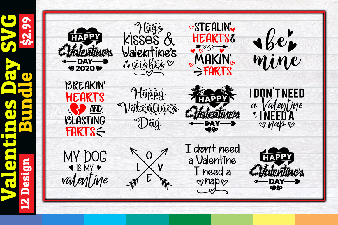 Download Free Valentine S Day Bundle Graphic By Aartstudioexpo Creative Fabrica for Cricut Explore, Silhouette and other cutting machines.