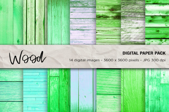 Wood Digital Papers Green Wood Texture Graphic Textures By mertakdere19 - Image 1