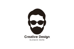 Bearded Man Using Sunglass Logo Ideas I Graphic By