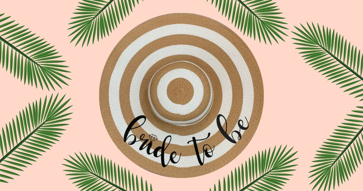 Download Free Diy Bridal Shower Sun Hat Creative Fabrica Wedding for Cricut Explore, Silhouette and other cutting machines.