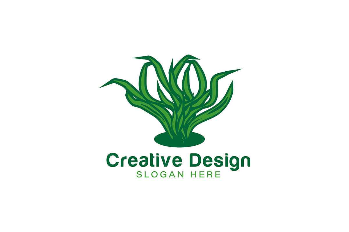 Download Free Grass Logo Ideas Inspiration Logo Desig Graphic By for Cricut Explore, Silhouette and other cutting machines.