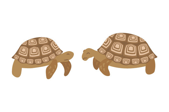 Download Free African Sulcata Tortoises Svg Cut File By Creative Fabrica for Cricut Explore, Silhouette and other cutting machines.